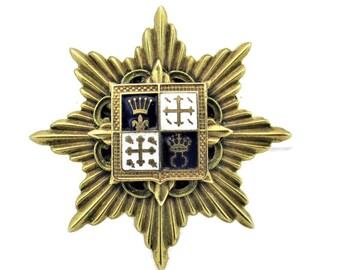 Celtic Cross All Metal Free Shipping Coat of Arms? Metal Enamel Brooch Pin Fleur de lis Brooch Lions