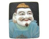 Toshikane Japan EBISU Button 7 Fortune gods Arita Porcelain Seven Lucky gods 七福神 Shichi Fukujin Seven Immortal gods Feng Shui Abundance