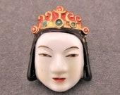 トシカネ Toshikane KISHOTEN Button Shinto Goddess of Happiness and Beauty KOJIMA Art Porcelain Six Buddhist Deities Japanese Arita Ceramic