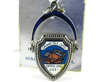 Grand Ole Opry Charm/ j STERLING Hard Enamel Shield Charm/Silver OPRYLAND USA Spinner Charm/Opry House Nashville Charm/Travel Shield Charm