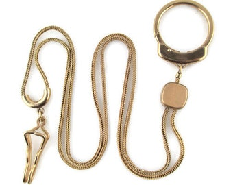 Swank Pocket Watch chain/Extension Key Chain/ Gold Filled Adjustable Watch Chain / SteamPunk Cosplay Watch Chain/ Retro watch  Chain