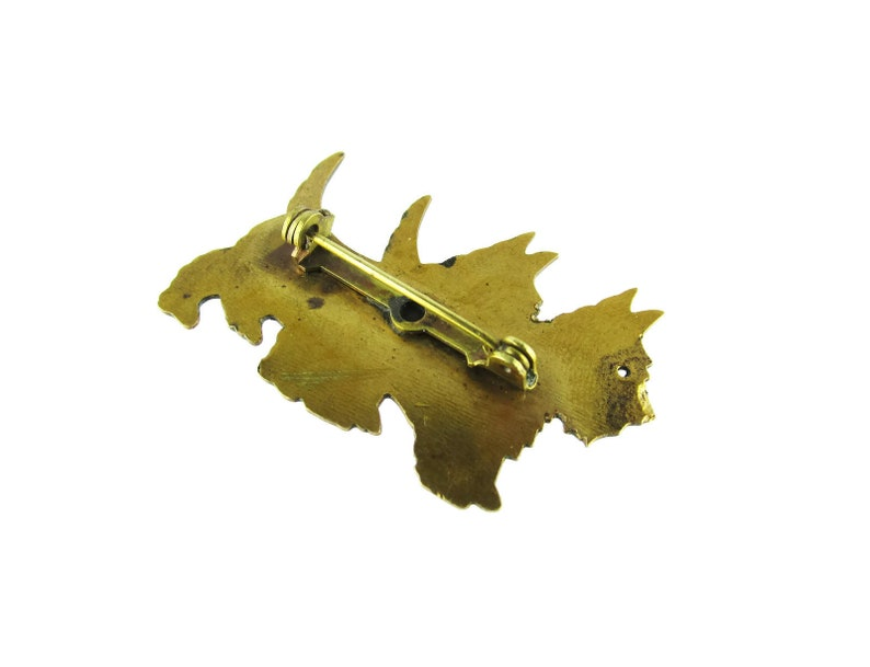 Double Scottie Name Pin  Engraved ANN Scottish Terriers Victorian Two dogs  Dog Lovers Gold Filled Brooch
