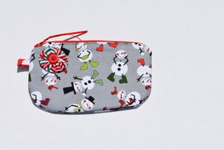 Christmas Zipper Bag, Travel Pouch, Gift, Festive, Ready To ship