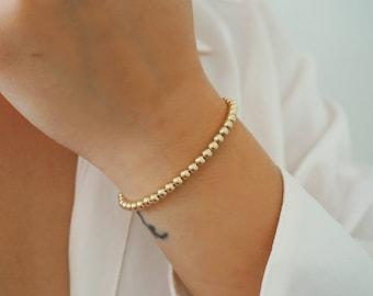 14k Gold Filled Ball Bracelet/ Minimalist Bracelet/ Minimalist Jewelry/ Real Gold Jewelry/ Dainty Jewelry