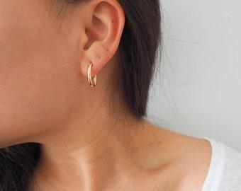 14k Gold Filled OVAL Hoop Earrings