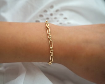 14k Gold Filled Retro Chic Chunky Chain Bracelet