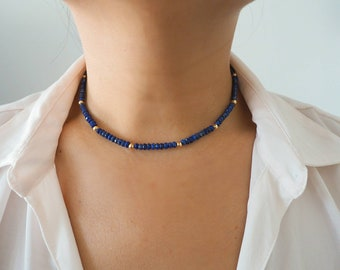 14k Gold Filled w/ Blue Lapis Stone Necklace