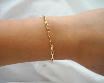 14k Gold Filled Cable Chain Dainty Bracelet/ Layer Bracelet