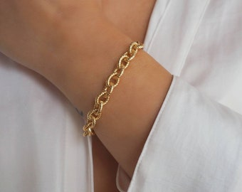 14k Gold Filled Super Chunky Cable Chain Bracelet