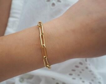 14k Gold Filled Bold Retro Chain Bracelet