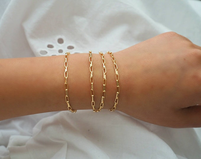 14k Gold Cable Chain MultiWay Bracelet & Necklace | Mutilway Necklace | Real Gold Jewelry