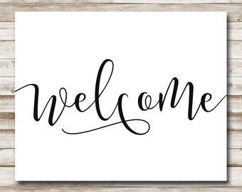 photo relating to Printable Welcome Sign identify Welcome printable Etsy