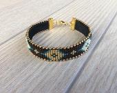 Tribal Cuff Bracelet, Ethnic Hippie Jewelry, Boho Tassel Bracelet, Beaded Gypsy Bracelet, Bohemian Women Jewelry, Birthday Gift For Her