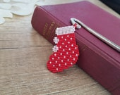 Christmas Bookmark For Kids, Holiday Book Accessory, Metal Bookmark Hook, Santa Boot Reading Accessory, Book Lover Gift, Bookworm Gift Kid