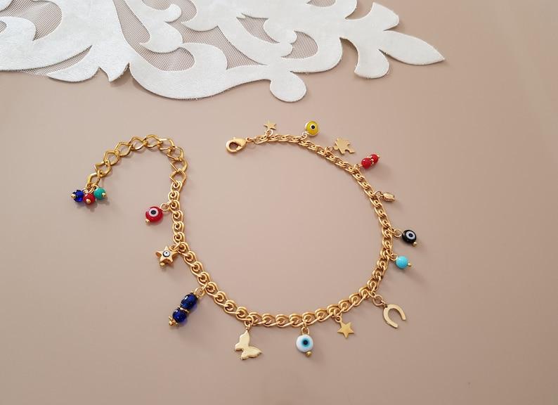 Ankle Body Bracelet Lucky Jewelry Minimalist Charms Anklet image 0