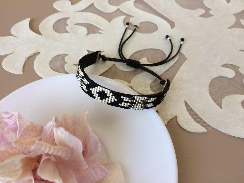Beaded Tribal Bracelet Native American Bracelet Boho Cuff image 0