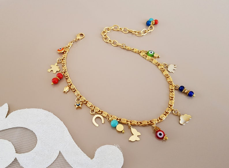 Ankle Body Bracelet Lucky Jewelry Minimalist Charms Anklet Model - 1