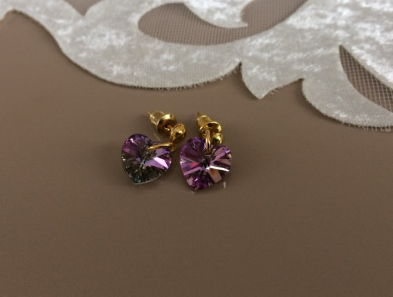 d0ecaf837 Heart Stud Earrings Swarovski Jewelry Valentine Present | Etsy