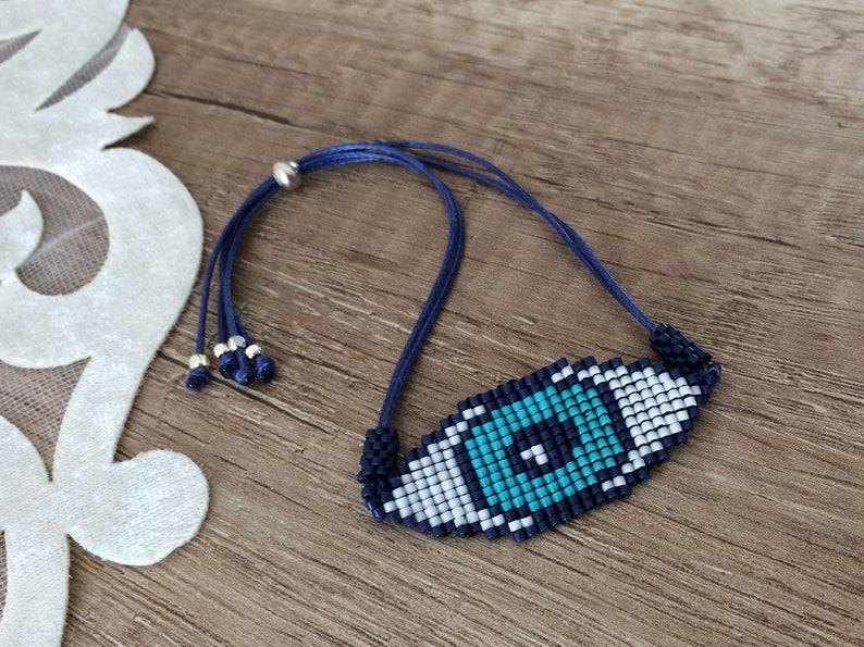 Beaded Evil Eye Bracelet Protection Jewelry Birthday Gift image 1