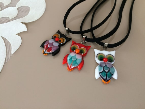 Fashion Murano Glass Pendant Necklace Sweater Chain Women Jewelry Costume Gift