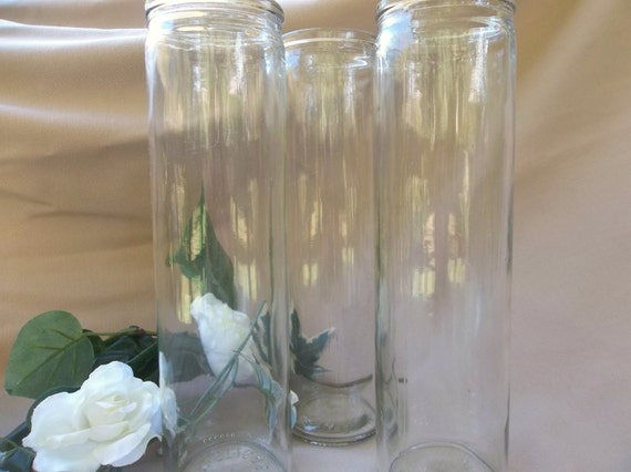 Tall Clear Glass Vase Glass Vase Crafts Wedding Etsy