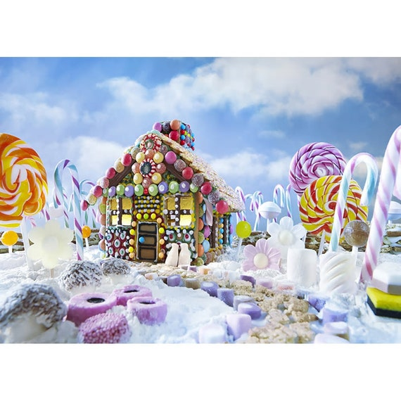 Christmas Candyland Backdrop.Xmas Backdrop Party Photography Snow Christmas Candyland
