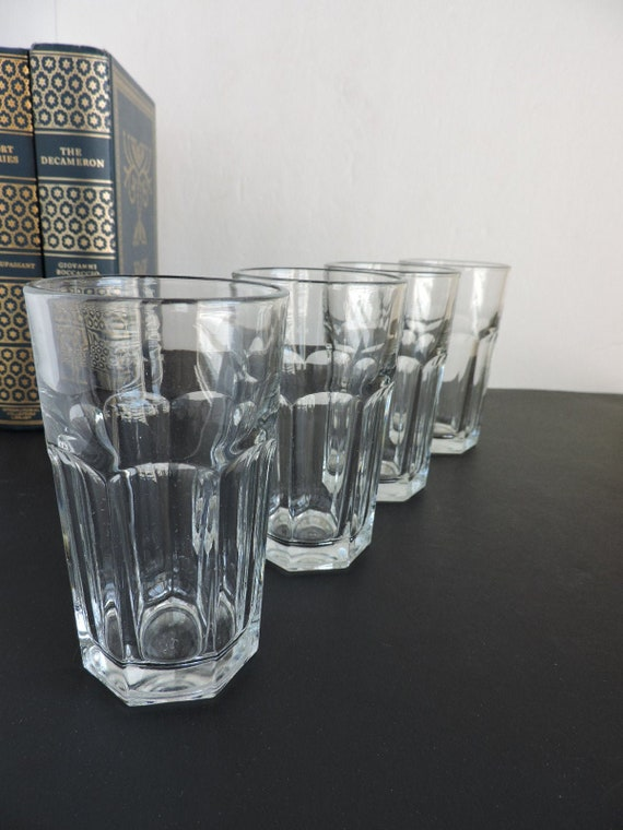 Vintage Libbey Clear Juice Glasses Set of 4 | Kitchen Drink Tumblers |  Breakfast Glass Drinkware | GreenTreeBoutique
