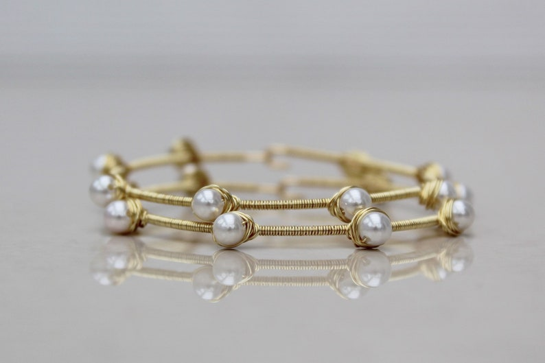 wire wrapped hoop uk seller large gold hoop earrings Large pearl hoop earrings pearl earrings wire wrapped pearl ivory pearl