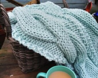 cable blanket pattern, super chunky pattern, knitting pattern, big knit blanket, home decor, cable knit, super chunky blanket, handmade