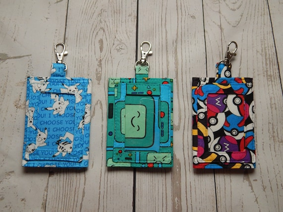 create your own custom id badge holder over 100 fabrics to etsy