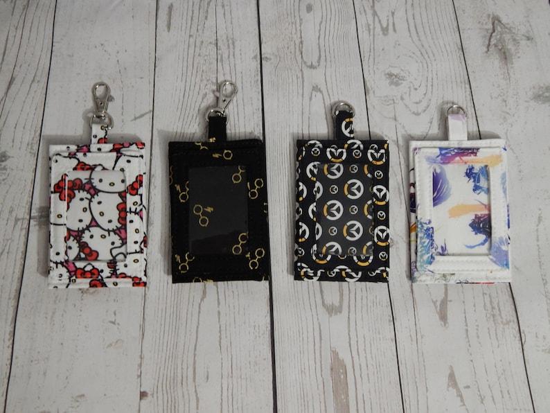CYO Custom ID Badge Holder/ Mini Wallet Over 200 Fabrics To image 0