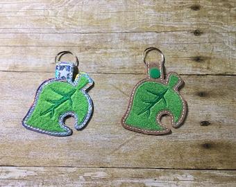 Cute Leaf Key Fob for ACNH