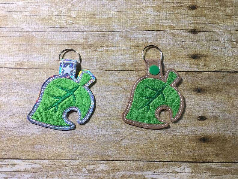 Cute Leaf Key Fob for ACNH image 0