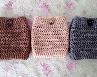Boot Warmers- Cafe Brown, Beige, or Heather Grey