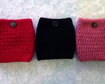 Boot Warmers- Red, Black, Rose Pink