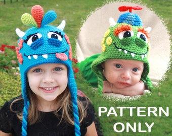 CROCHET PATTERN- Monster Hat Pattern For Boys & Girls (PDF File)