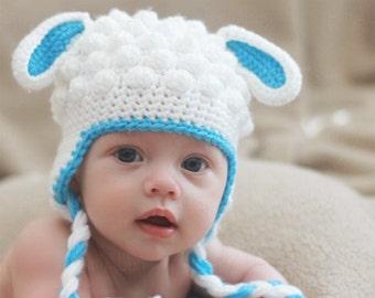 Crochet Lamb Hat Pattern (PDF FILE)
