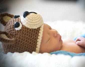 Crochet Teddy Bear Hat Pattern (PDF FILE)