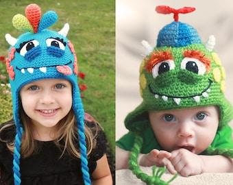 8951b1340 Monster hat pattern | Etsy