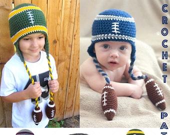 Crochet Football Beanie PATTERN (PDF FILE)