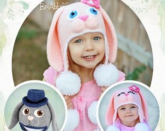 Crochet Sweet Bunny Hat Pattern (PDF FILE) 3d90e727c6c