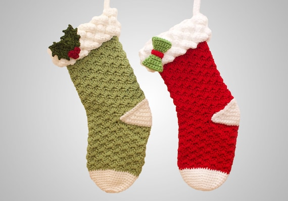 Crochet Christmas Stocking Pattern.Crochet Christmas Stocking Pattern Easy Instructions For Beautiful Fancy Holiday Home Decor Customizable For Boys Girls Pdf File