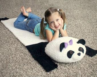Travel Bear Mat / Backpack (PDF FILE- Panda & Brown / Teddy Bear Instructions)