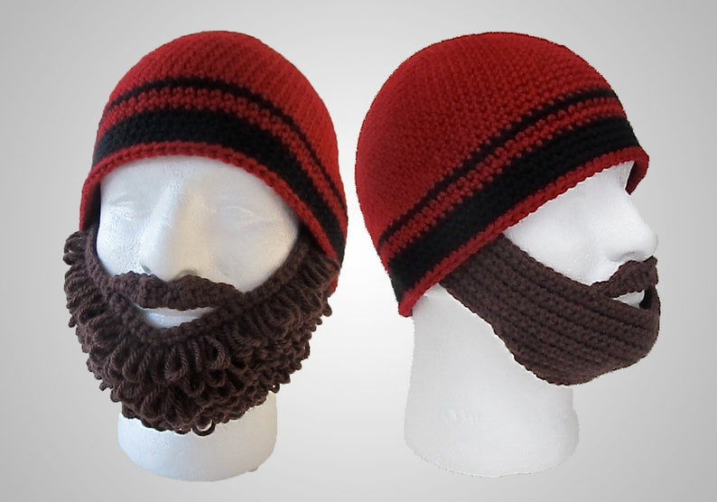 Crochet Beard Beanie Pattern  Easy Instructions for Cool Disguise  Curly  and Straight Bearded Hat Costume for Baby, Kids & Adults (PDF FILE)