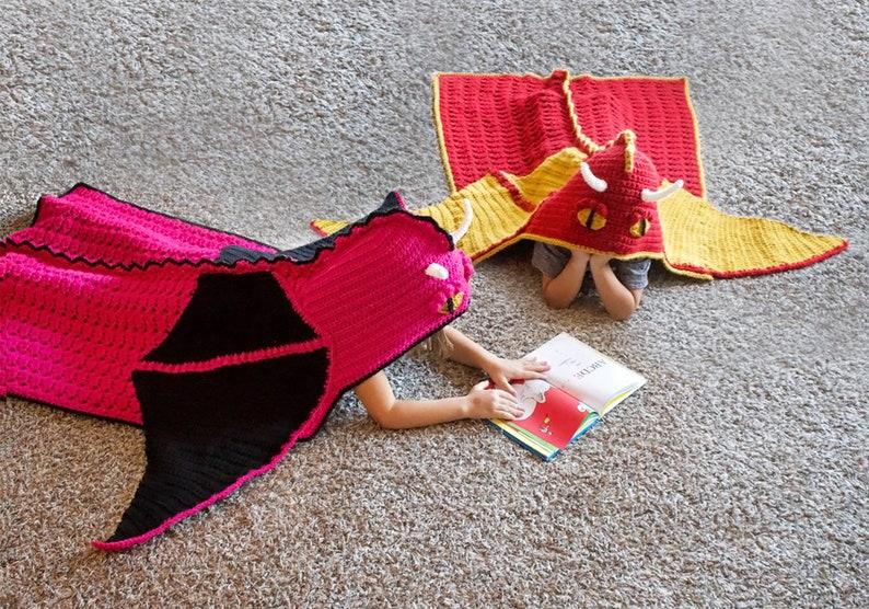 Crochet Dragon Blanket Pattern Cool Hooded Dragon Afghan Etsy