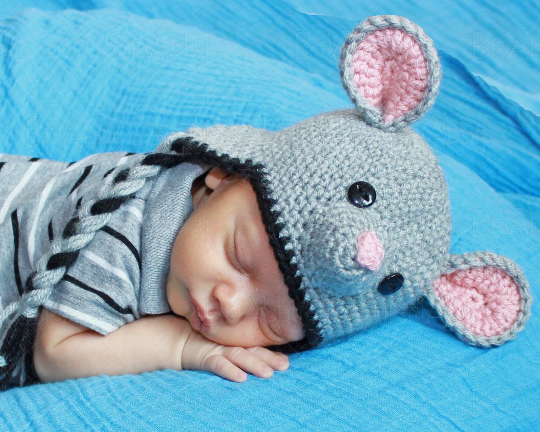 Crochet Mouse Hat Pattern Pdf File Etsy