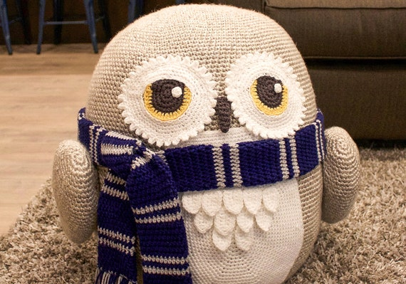 Magnificent Crochet Owl Pouf Pouffe Ottoman Toy Pattern Easy Instructions For Cute Animal Home Decor Used As Footrest Or Cool Chair Pdf File Pdpeps Interior Chair Design Pdpepsorg