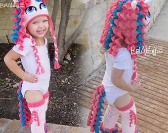 Unicorn / Pony Tail & Leggings Crochet Pattern (PDF FILE) - Hat Pattern Sold Separately!