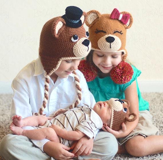 Crochet Teddy Bear Hat Pattern Pdf File Etsy