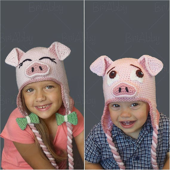 The Perfect Crochet Pig Hat Pattern Pdf File Etsy